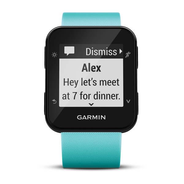 Affichage d'un SMS sur la Garmin Forerunner 35