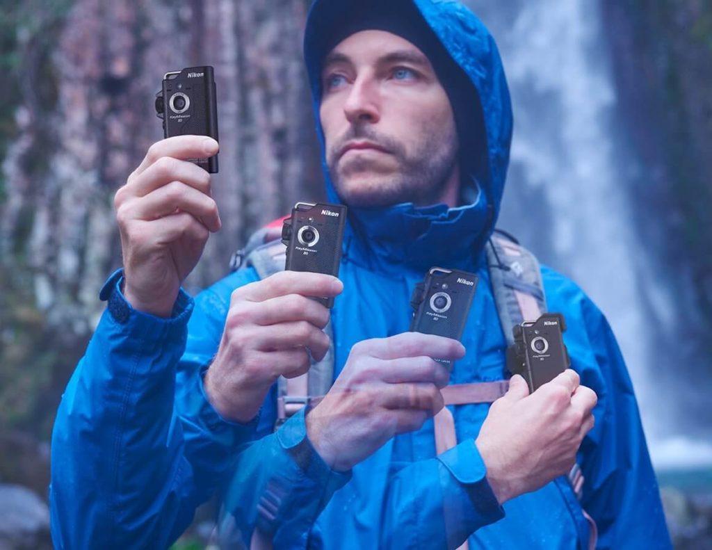 Fixation sac à dos de l'action cam Nikon KeyMission 80