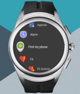 Panneau d'applications Android Wear 2.0