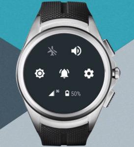 Panneau de raccourcis Android Wear 2.0