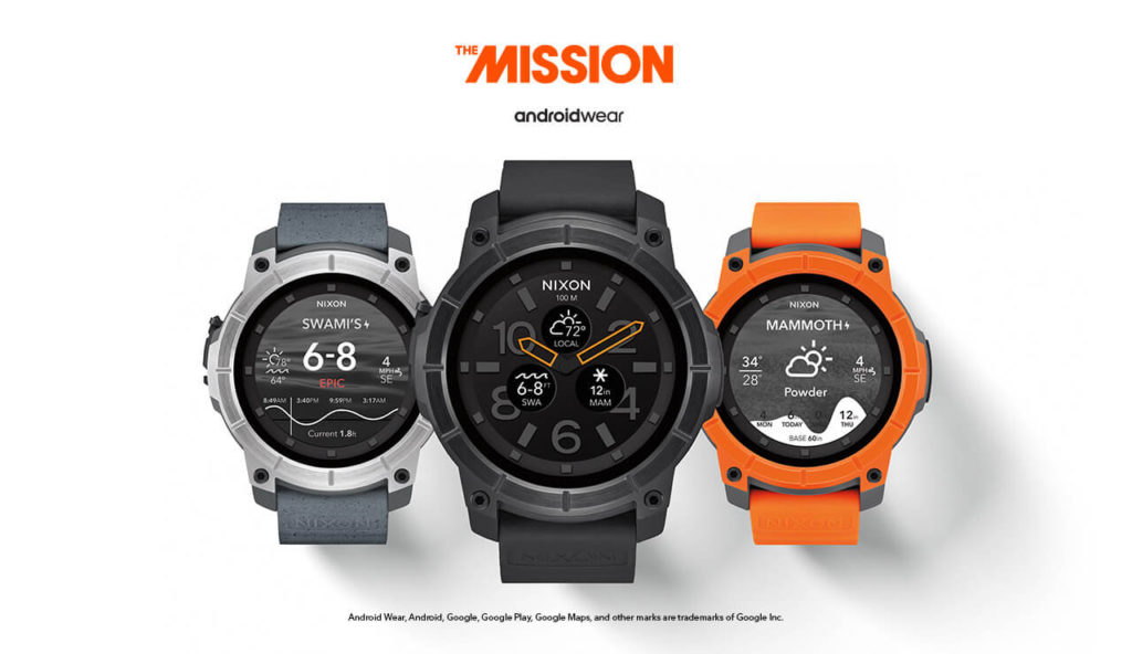 La Nixon Mission propose 3 coloris de base