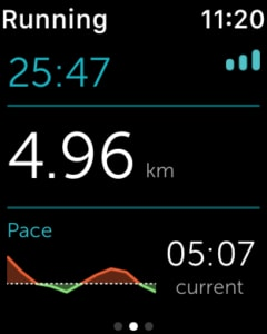 Runkeeper sur l'Apple Watch 2 - alure