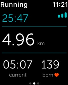 Runkeeper sur l'Apple Watch 2 - running