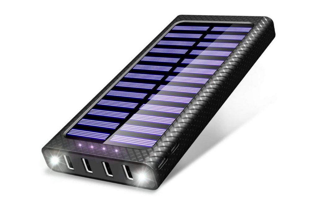 batterie externe solaire 20000 mah Ossky