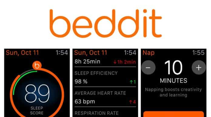 Application Beddit pour Apple Watch
