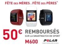 Polar rembourse 50€ sur la Polar M600