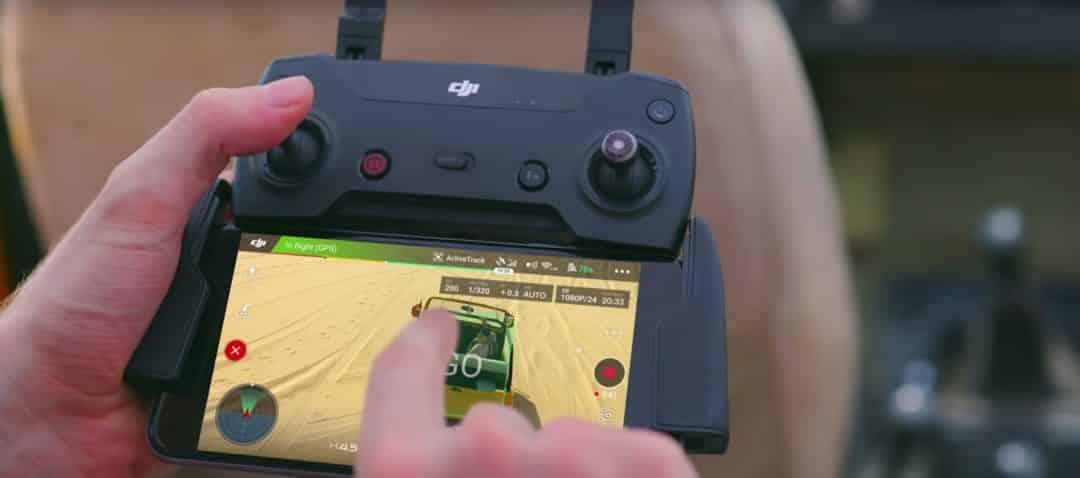 Suivi à distance par drone
