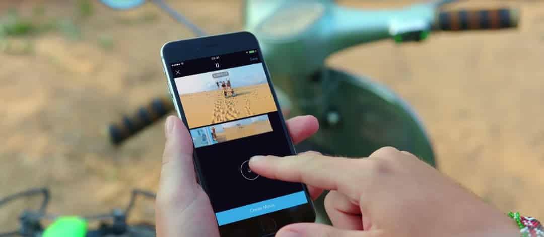 montage vidéo faacile dans l'application DJI GO4