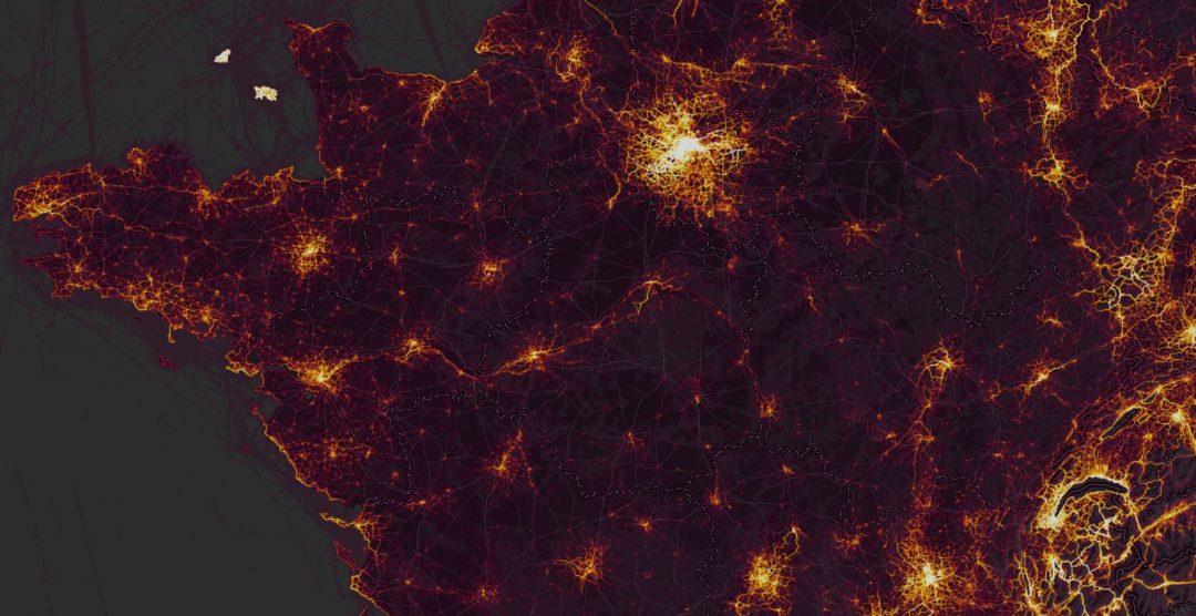 heatmap strava France